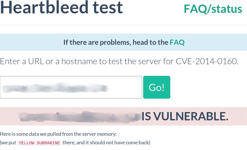 Test your server for Heartbleed CVE 2014 0160