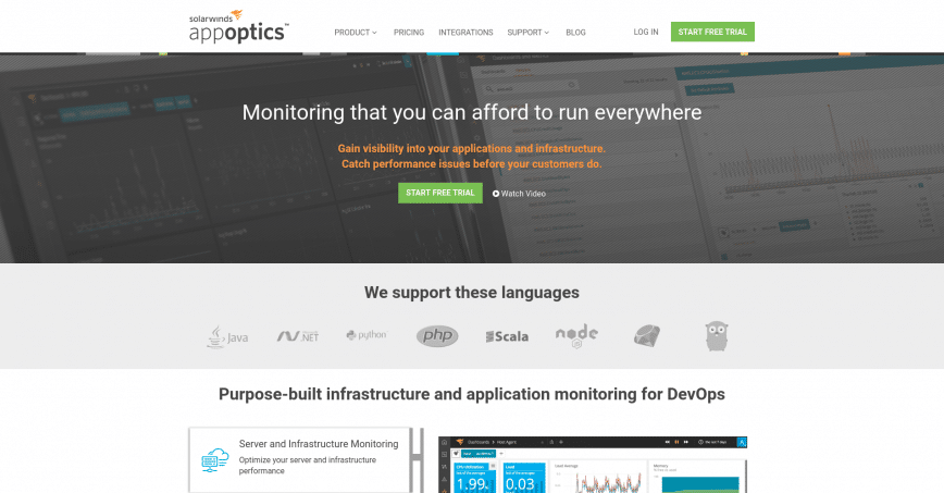 Application Performance Management Server Monitoring - AppOptics