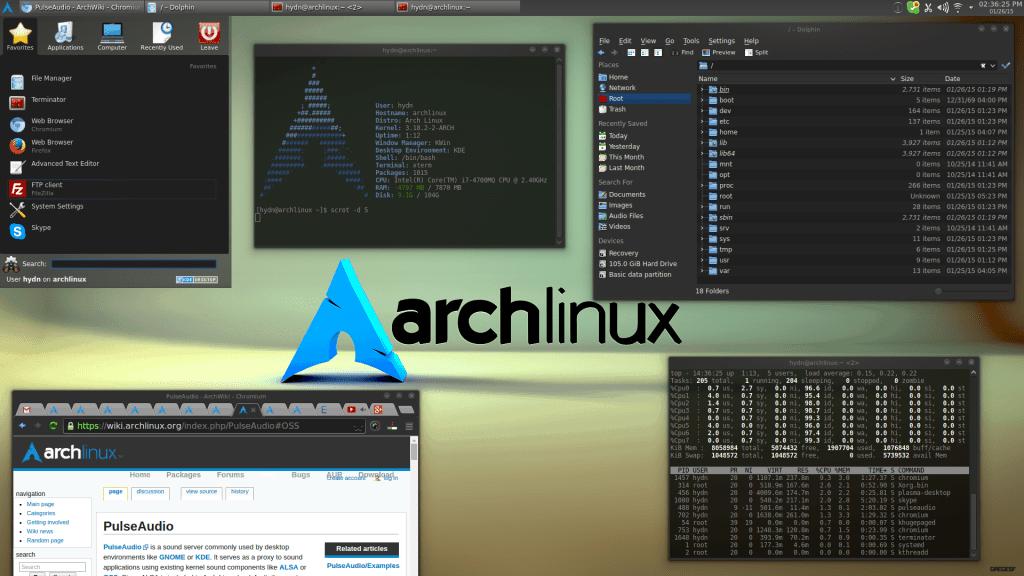 Arch Linux + KDE