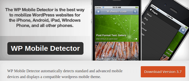 WP Mobile Detector — WordPress Plugins