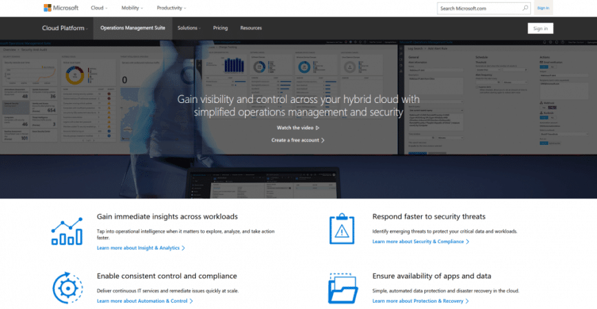 Microsoft Operations Management Suite