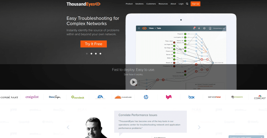 Network Monitoring Software ThousandEyes