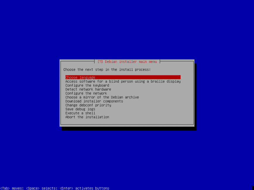 Direct install of Debian SID