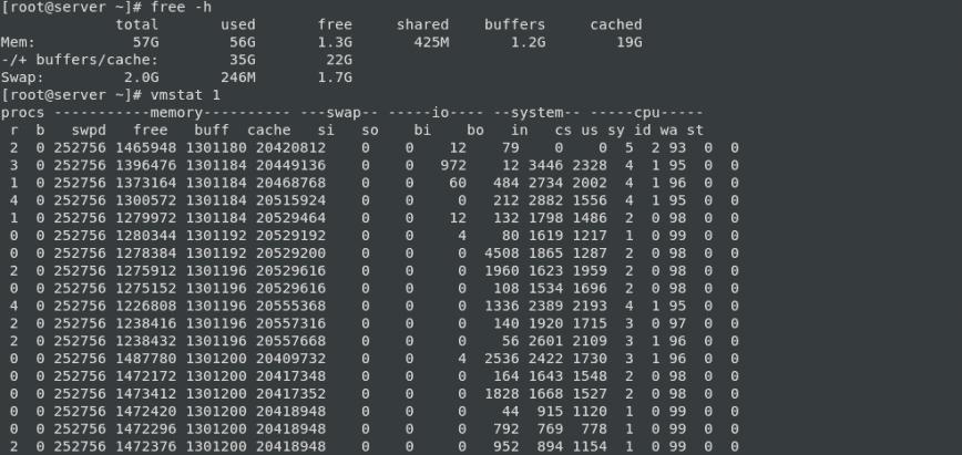 RAM Upgrade: free-hw, vmstat 1
