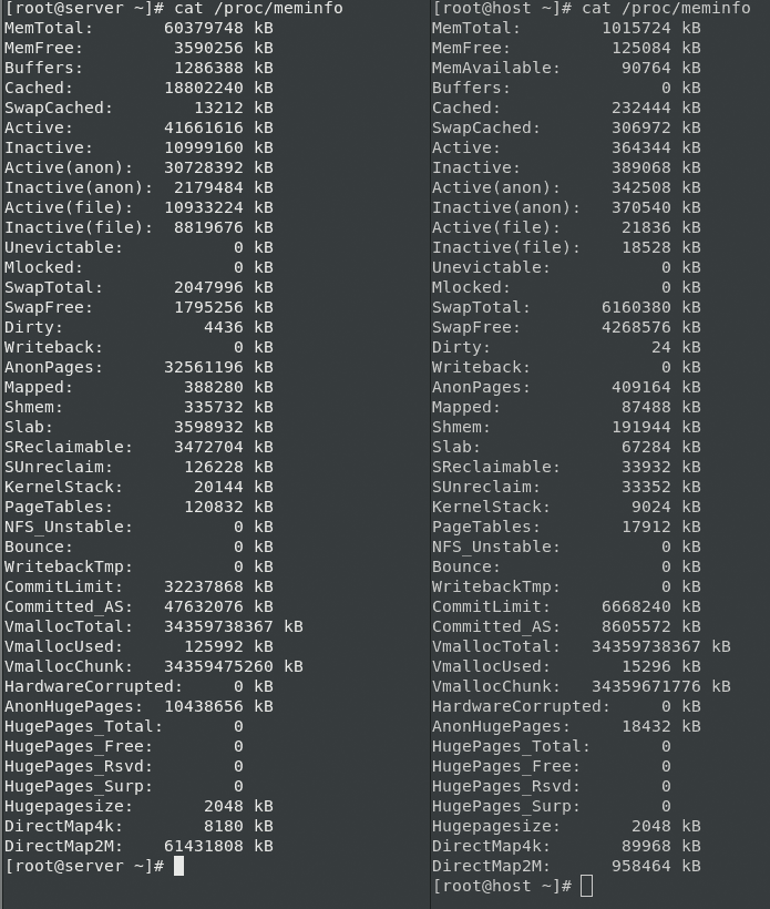 RAM Upgrade: cat /proc/meminfo