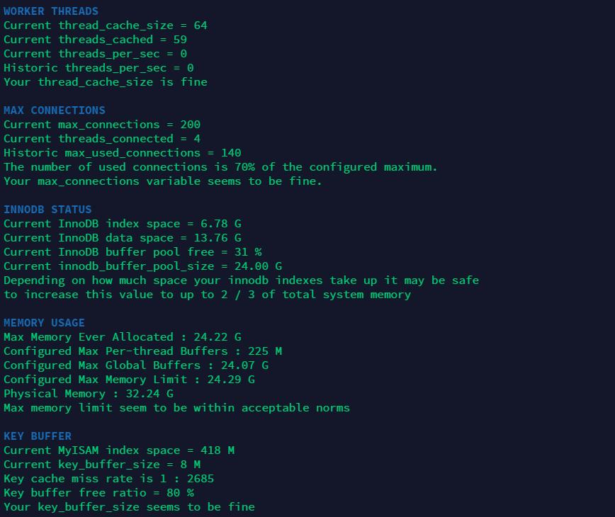 Tuning-Primer Screenshot