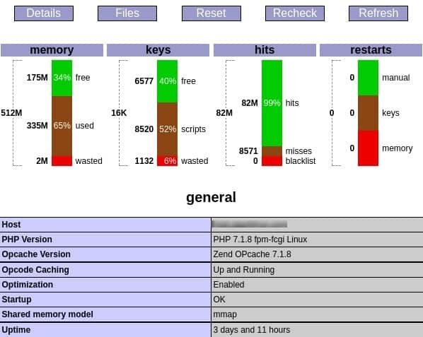 PHP Performance - Opcache Control Panel
