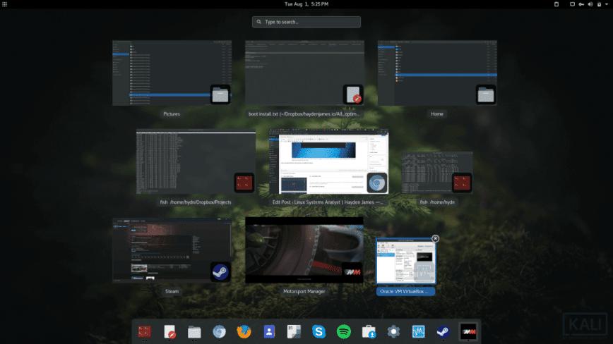 Kali Linux non-root install w/ screenshots