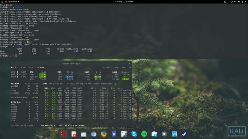 Kali Linux non-root install w/ screenshots