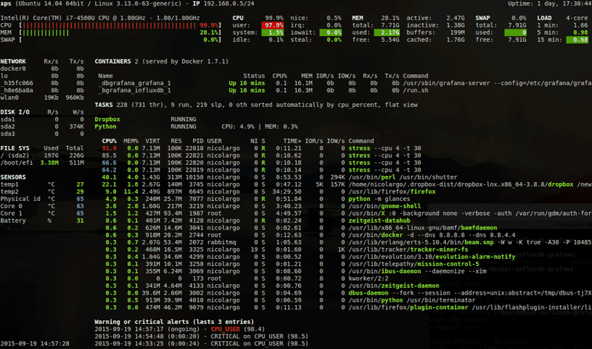 htop and top Alternatives: Glances, nmon
