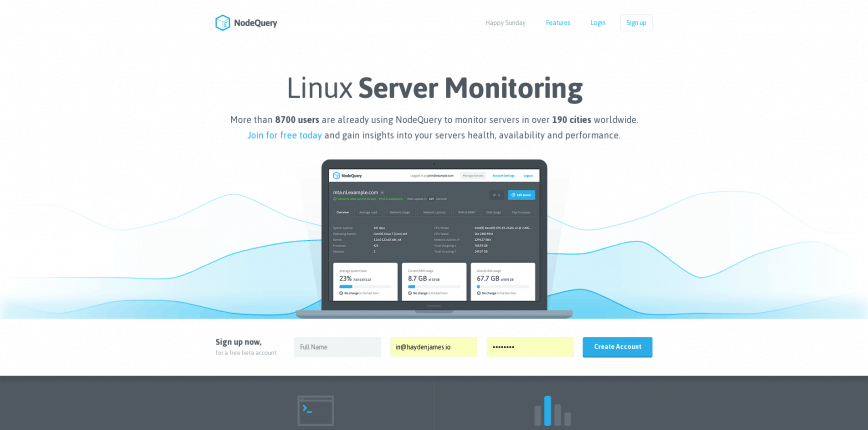 NodeQuery · Linux Server Monitoring