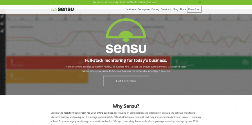 Sensu Full stack monitoring