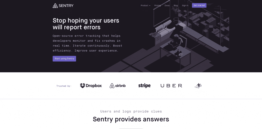 Sentry Error Tracking Software — JavaScript Python PHP Ruby more