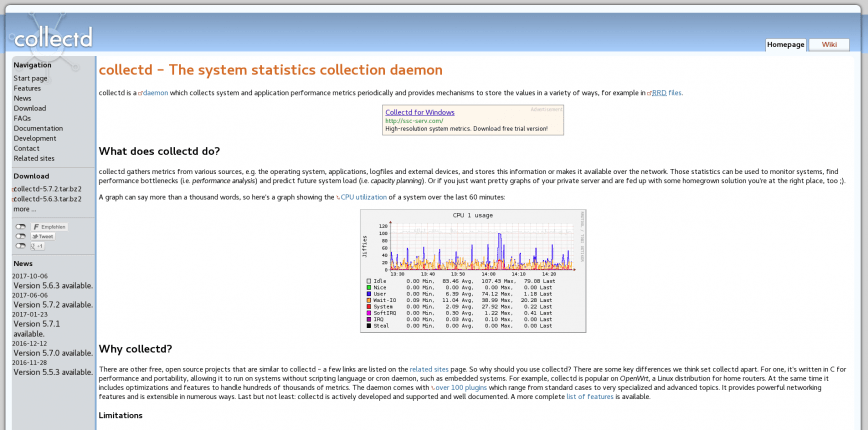 collectd – The system statistics collection daemon