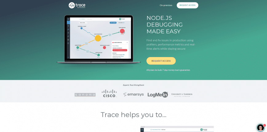 Trace Node.js Debugging and Performance Monitoring