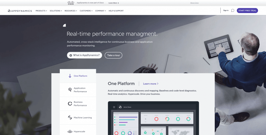 Application Performance Monitoring Management AppDynamics