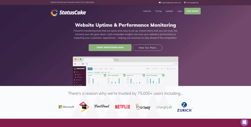 Website Monitoring Downtime Updates StatusCake