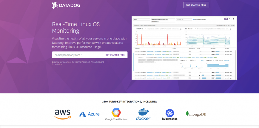 Datadog Linux OS Monitoring Datadog