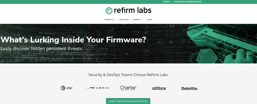ReFirm Labs - tools for firmware security