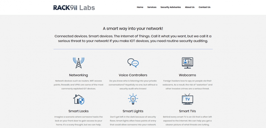Rack911 Labs - routine security auditing for IoT.