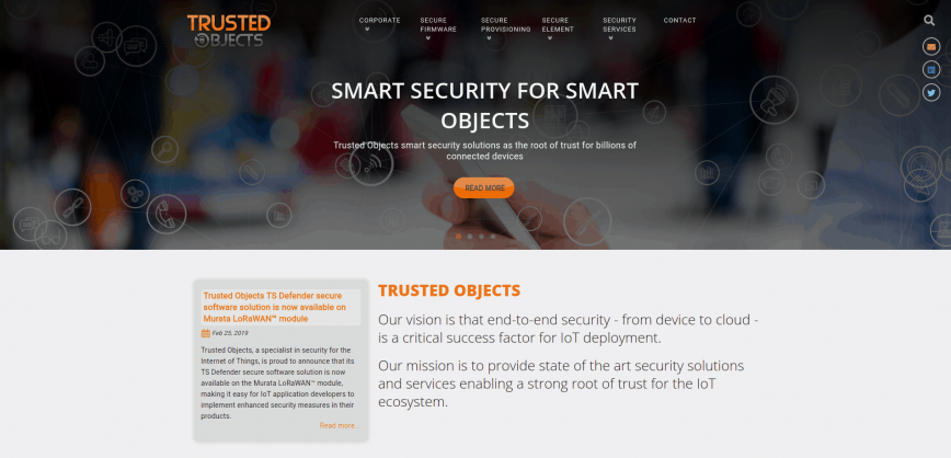 Trusted Objects IoT security