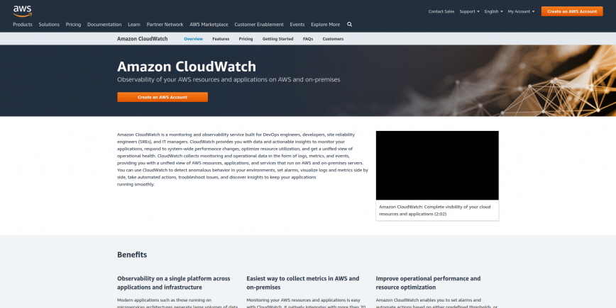 Amazon CloudWatch - Application and Infrastructure Monitoring
