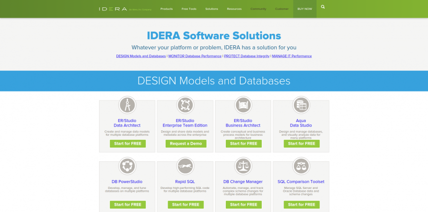 Comprehensive IT and Database Management Tools IDERA