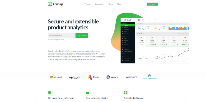 Countly Product Analytics for Mobile Web Desktop and IoT