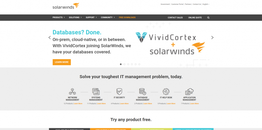 Solarwinds - Server Monitoring & Application Performance Monitoring