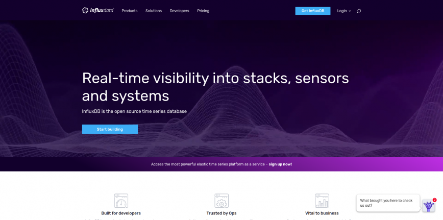 InfluxData (InfluxDB) | Time Series Database Monitoring Analytics