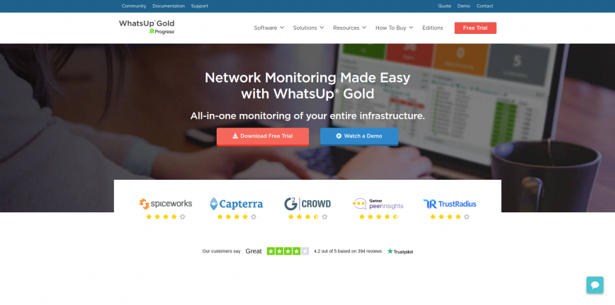 WhatsUpGold - Network & Server Monitoring Software.