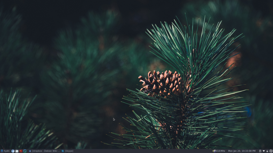 Pinebook Pro desktop screenshot