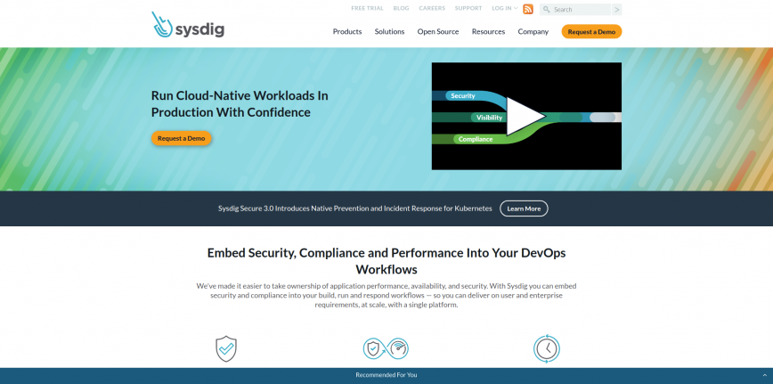 Secure DevOps Platform for Cloud-Native Sysdig