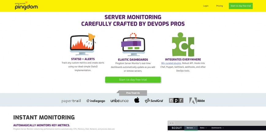 Server Monitoring Pingdom Server Monitor