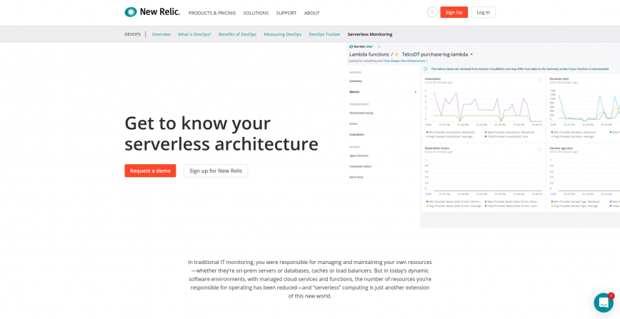 Serverless Monitoring New Relic