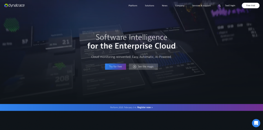 Software Intelligence for the Enterprise Cloud Dynatrace