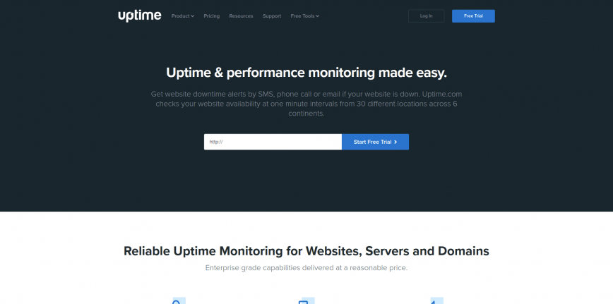 Website Uptime Monitoring Service - Free Trial Uptime com