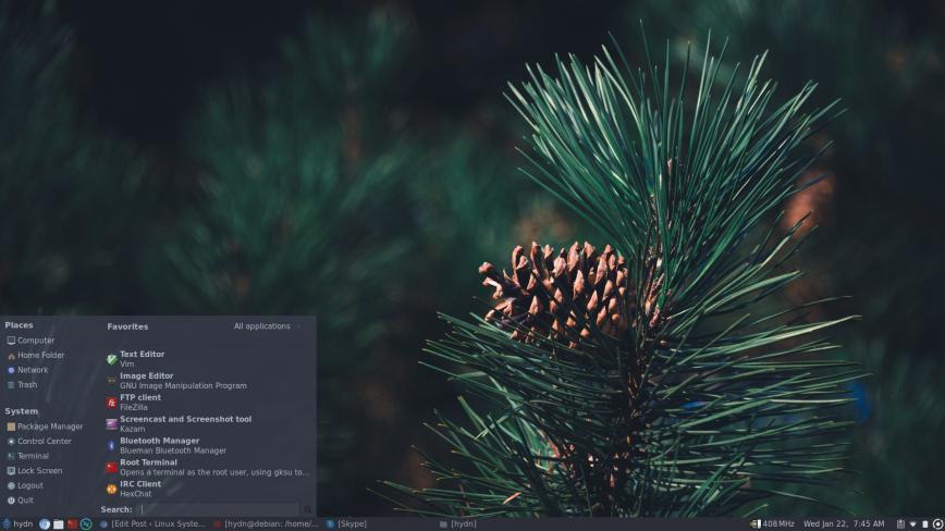 Pinebook Pro screenshot