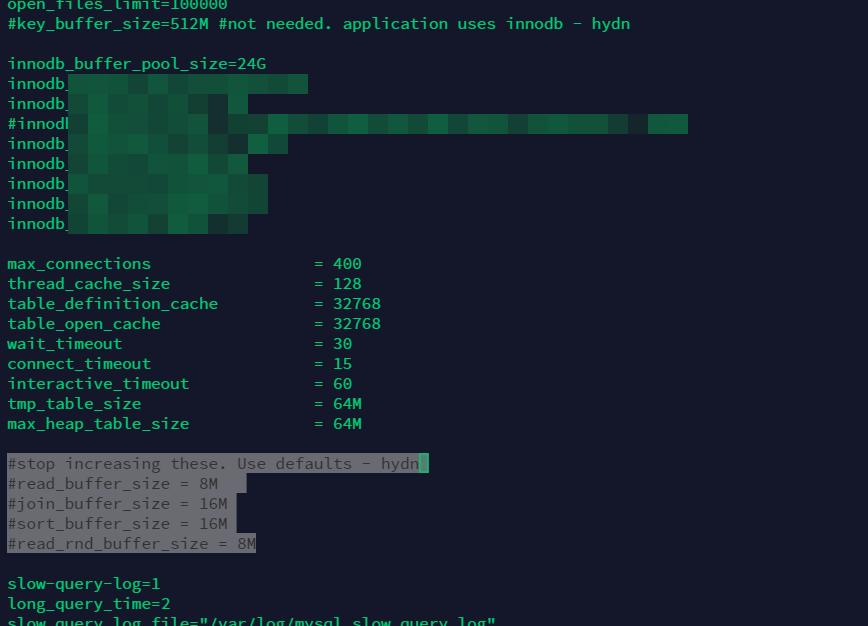 my.cnf MySQL config file