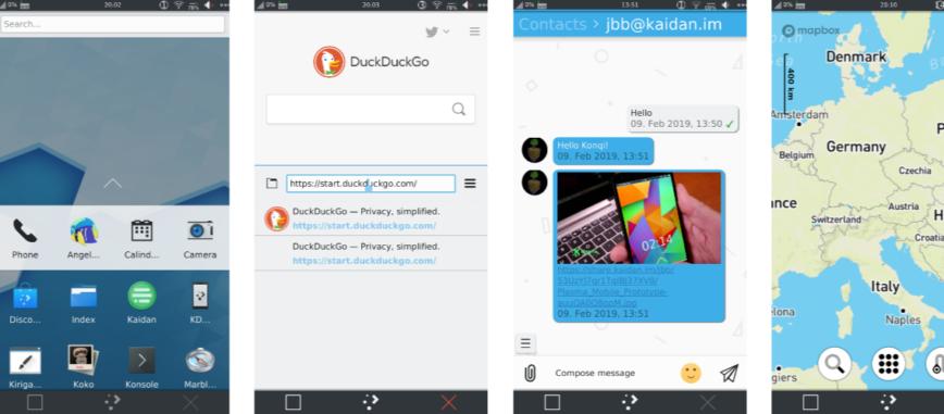 Screenshots Plasma Mobile